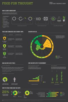 Food For Thought Brenna Marketello #information #infographics #yellow #design #clean #gray #green