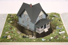 thomas doyle worlds 11 #miniature #diorama #house #art