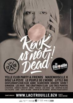 Affiche La Citrouille scène de musique actuelle de Saint-Brieuc par Dezzig