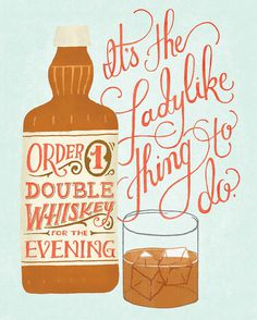 Double Whiskey #inspiration #creative #lettering #design #artists #hand #typography