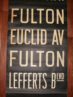 Vintage New York Subway Signs - NYC Signs (Unframed R9 panels) in slock  #painted #subway #vintage #signs #hand