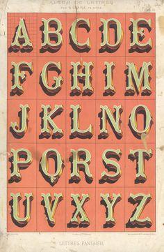 Alphabets_2 #alphabet #vintage #dimension #typography