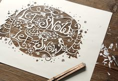 Danielle Kroll | Let It Snow #out #type #illustration #cut
