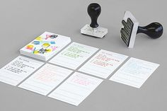 Playlab : Lovely Stationery . Curating the very best of stationery design #playlab #stamp #mind #print #design #by #cards