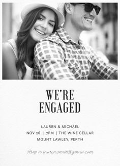 Paper Plane - Engagement Invitations #paperlust #engagement #invitation #engagementinvitation #design #digitalcards #photocards