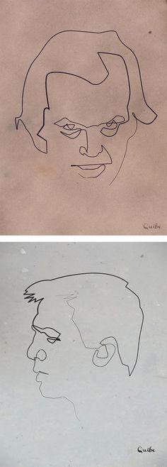 One Line Drawings by Quibe #drawings #line #lines #simple #elegant #sketch