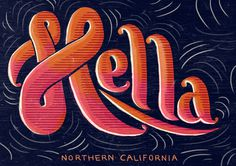 Type That I like #lettering #hand #hella #typography