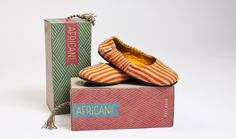 African colors shoe packagingafrica #packaging #africa #design #shoe #art