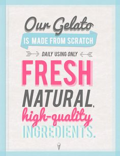 Gelato Design #branding #shop #print #design #graphic #decor #poster #cute #typography