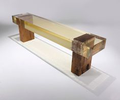 Varia — Design & photography related inspiration #acrylic #modern #bench #wood #acryl #minimal #cool