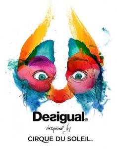 Crazy eyes #desigual #soleil #illustration #conspiracystudio #cirque #watercolor #du