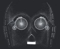 Cosmic wheel #c3po #wars #ba #ck #dots #wheel #illustration #star