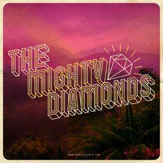 """The Mighty Diamonds"" #handmade #typography #reggae #rootsreggae #jamaica #diamond #mightydiamonds"