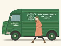 Ralph's Coffee #van #illustration #ralph #lauren