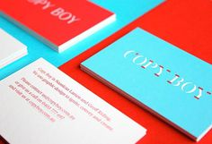 Copy Boy Business Cards #blue #cards #business #red