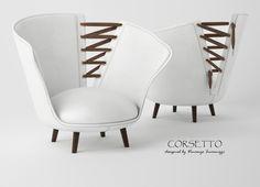 Corsetto armchair