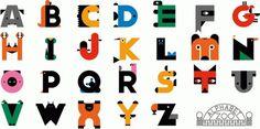 RINZEN . Alphabet Zoo #type #alphabet #zoo #animals