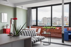 Cheerful Mix of Color and Texture in Moscow Apartment - InteriorZine - #decor #interior #home