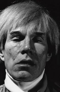 "WARHOL COLLECTION: ""Andy Warhol by Gottfried Helnwein"" (1983) « THESE AMERICANS #andy #1983 #photo #warhol #portrait"