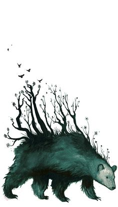 Kalevala #fantasy #illustration #nature #magic #monster #bear #forest #character