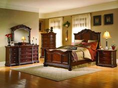 Classic bedroom with small painting