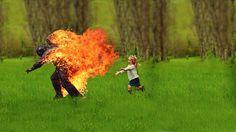 DANNY YOUNT : PROCESS #grass #child #running #fire #fun