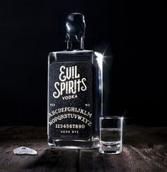 lovely package evil spirits vodka #design #vodka #stbernadine #spirits #evil