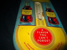 Tough NuGrape thermometer. Still works! | Collectors Weekly #sign #flavor #tin #nugrape #soda