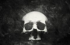 Once Were Warriors on the Behance Network #skull #white #black
