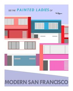 Eight Hour Day » Blog #illustration #color #buildings #san franciscco