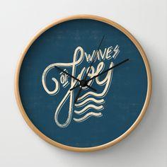 Waves of Joy Wall Clock by Koning