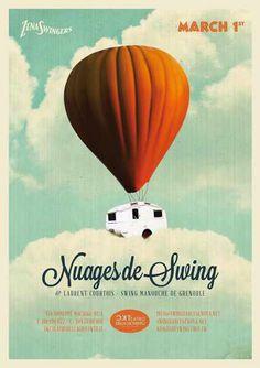 #poster #vintage #retro #lindyhop #swing #manouche #gipsyjazz #laurentdecourtois #micheletenaglia