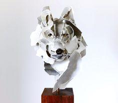 wolf #sculpture #paper