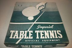 Vintage Imperial Table Tennis Game Made in USA Good Condition | eBay #pong