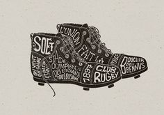 Toulouse SOET Section Rugby on the Behance Network #draw #illustration #shoes