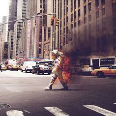 slyAPARTMENT #walking #city #fire #spaceman