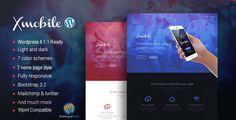 Xmobile - Mobile App Landing Page WordPress Theme