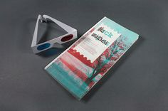ISTD - The Waitress // Front Cover 2 #print #graphic design #waitress #3d glasses #3d #gary nicholson