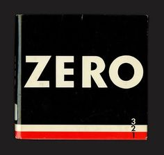Opening cover blurb from ZERO #cover #typography