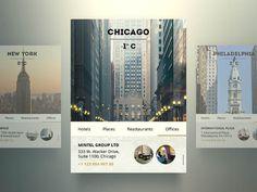 US City Widget - Weather Mobile App UI Design