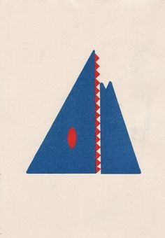 Penny Klein #risograph #mountain #expression #man