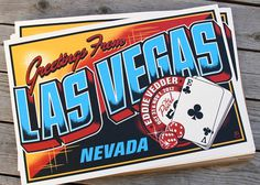 vegas #illustration #gig #vintage #postcard