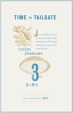 tailgating poster - Danielle Kroll #poster #invitation