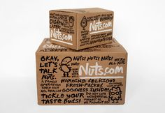 New packaging with illustrated character and typographic detail designed by Pentagram for nut, snack, tea and coffee brand Nuts.com #packaging
