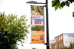 Roundhouse - Camden Beach #branding #print #poster #art #summer #layout #typography