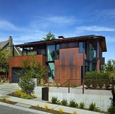 Olson Kundig Architects - Projects - Laurelhurst Residence #corten #modern #tom #architecture #kundig