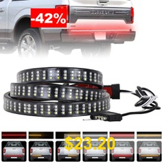 ZDM #60 #inch #432 #LEDs #Triple #Row #Tailgate #LED #Light #Strip #Brake #Running #Sequential #Amber #Turn #Signal