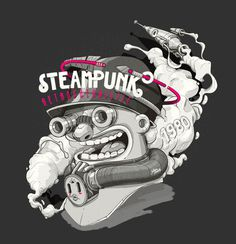 Steampunk by Julian Ardila #illustration #design #graphic #art