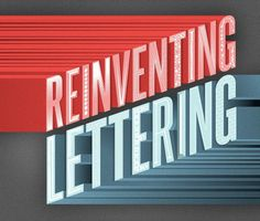 Reinventing Lettering UK – Jason Wong – Friends of Type #blue #decorative #red #charcoal