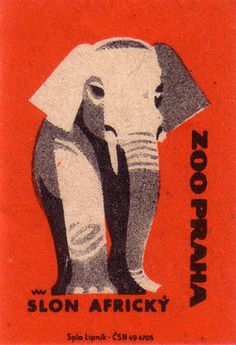 Oliver Tomas | Text Proportion Utility xc2xbb Blog Archive xc2xbb Animal illustrations from the Prague Zoo (1963) #old #print #retro #elephant #illustration #animal